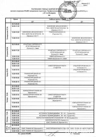 Расписание летней сессии заочное обучение 3 курс ДПИ и Дизайн
